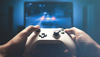 Disfruta de una consola de videojuegos